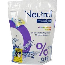 Neutral vaskekapsler, farvet vask, 28 ml, 20 stk.