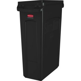 Rubbermaid Slim Jim affaldsbeholder, 87 liter,Sort
