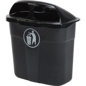 Affaldsbeholder i sort, 40 liter - Udendørs