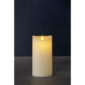 Sara Exclusive LED lys, Creme, H 20  x Ø 10 cm