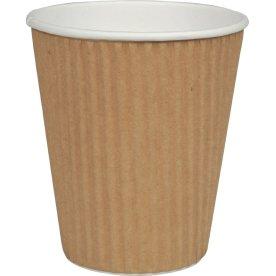 Kaffebæger 36 cl, pap med PE belægning, brun