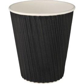 Kaffebæger 36 cl, pap med PE belægning, sort