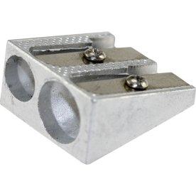 Budget Blyantspidser, aluminium, dobbelt hul