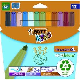 Bic kids Visacolor XL tuscher, 12 stk. ass