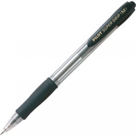 Pilot SuperGrip kuglepen, medium, sort