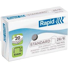 Rapid Standard 26/6 Hæfteklammer, 1000 stk.