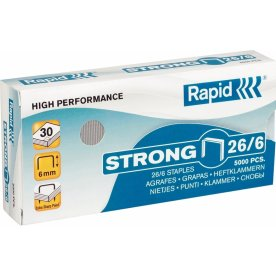 Rapid Strong 26/6 Hæfteklammer, 5000 stk.
