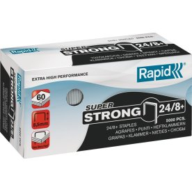 Rapid Super Strong 24/8 Hæfteklammer, 5000 stk.