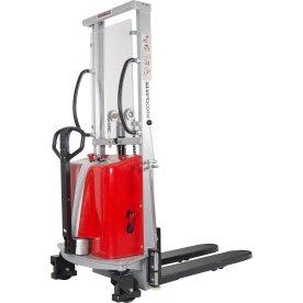 Stabler m/semi-elektrisk løft, 1600 mm, 1000 kg