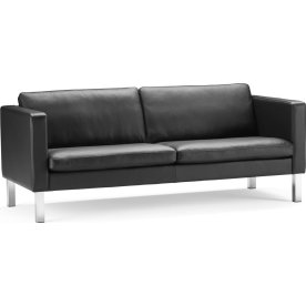 Base Sofa 3 pers, Sort læder, L 231 cm