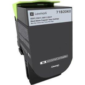 Lexmark 71B20K0 Sort tonerkassette, 3000 sider