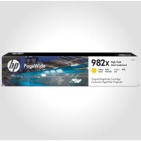 HP 982X XL PageWide blækpatron, gul,16.000s