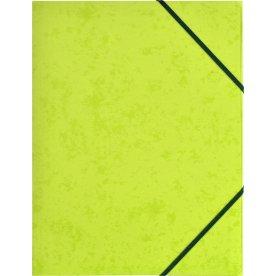 Budget elastikmappe, karton, limegrøn