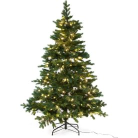 Juletræ LUX inkl. LED lys - 150 cm, Grøn