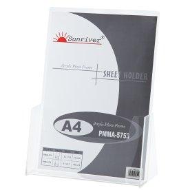 Brochureholder bord 1 fag A4