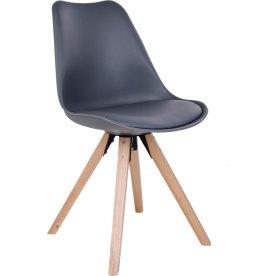 Bergen spisebordsstol, grå m. træben
