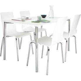 Square kantinesæt, 1 bord og 4 stole