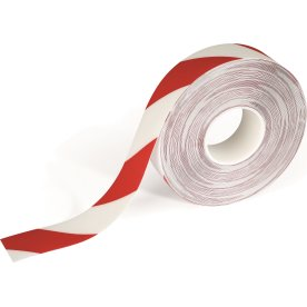 Gulv advarselstape, rød/hvid, Duraline strong