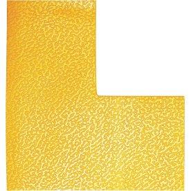 Gulvmarkering, L-form, gul