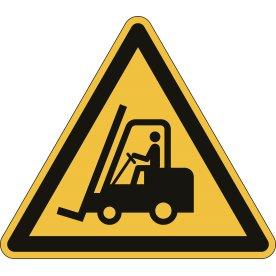 Advarselsklistermærke, hold øje med trucks, gul