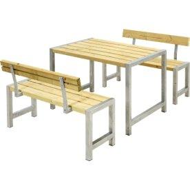Plus Cafe Plankesæt m. ryglæn, Trykimprægneret