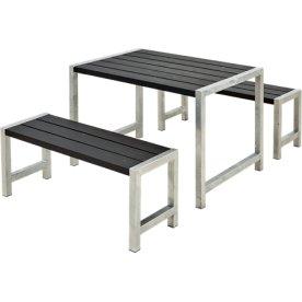 Plus Cafe Plankesæt L. 127 cm, Sort