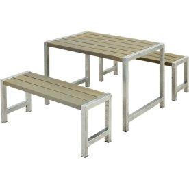 Plus Cafe Plankesæt L. 127 cm, Gråbrun