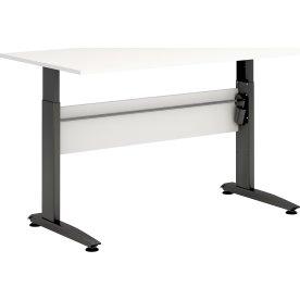 VIKING hæve/sænkebord 160X80, hvid melamin / sort