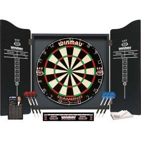 Winmau professionelt dartsæt inkl. MDF-skab