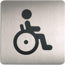 Durable Skilt Firkantet Handicap toilet