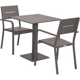 Outdoor cafésæt, 2 pers., antracit