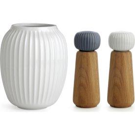 Kähler Hammershøi Vase & kværne borddækningspakke