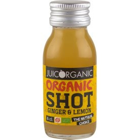 JuiceOrganic Ginger & Lemon shot, 6 cl.