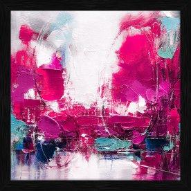 Maleri Abstract Life, 70x70 cm, inkl. sort ramme