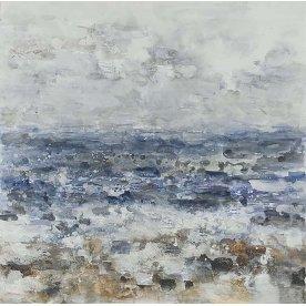 Maleri Sea and Me, 115x115 cm