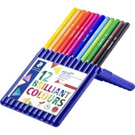 Staedtler Ergosoft farveblyanter, 12 farver