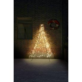 Væg juletræ m/ 180 LED lys, H 200 cm