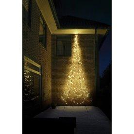 Væg juletræ m/ 450 LED lys, H 600 cm