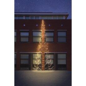 Væg juletræ m/ 750 LED lys, H 800 cm
