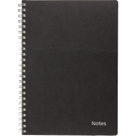 Mayland A5 notesbog, sort, refill