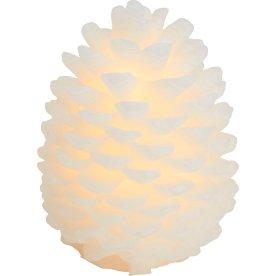 Clara LED koglelys, 1 stk, Hvid, Ø 14 x H 20 cm