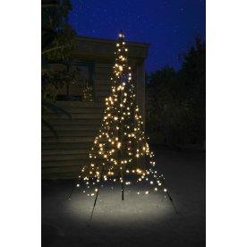 Juletræ m/ 300 LED lys, H 200 cm