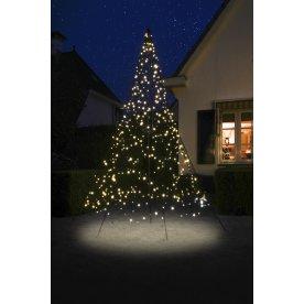 Juletræ m/ 360 LED lys, H 300 cm