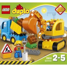 LEGO DUPLO 10812 Lastbil og gravemaskine, 2-5 år