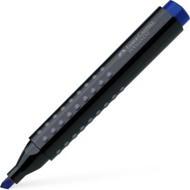 Faber-Castell Grip Marker, skrå spids, blå