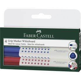 Faber-Castell Grip Whiteboard marker, 4 stk.