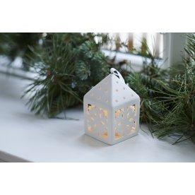 Olina LED lanterne, Snefnug, Hvid