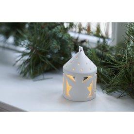 Olina LED lanterne, Engel, Hvid