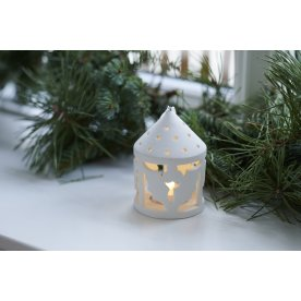 Olina LED lanterne, Kristtorn, Hvid