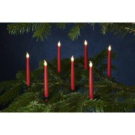 Carolin juletræslys, H 15 cm, Rød, 10 stk.